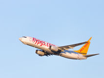 Passageiro Boeing 737 Pegasus Airlines Foto de Stock Royalty Free
