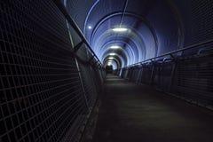 Passageiro da noite e luzes azuis Fotos de Stock Royalty Free