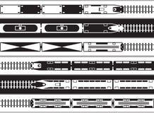 Passageiro e transporte da estrada de ferro do frete de cima de ilustração royalty free