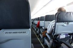 Passageiro em um avião Foto de Stock