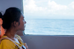 Passageiro em um navio Imagens de Stock Royalty Free