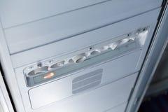 Passageiro Jet Air Conditioner e luz Imagens de Stock