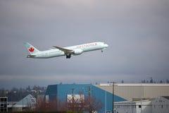 Passageiro Jet Leaving Vancouver de Air Canada Imagens de Stock