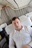 Passageiro no vôo Fotografia de Stock Royalty Free
