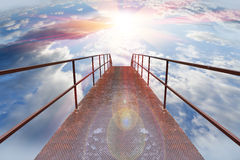 Passagem ao céu fotografia de stock