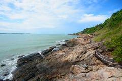 Passagem ao lado do mar, vista que vê a maneira Imagem de Stock Royalty Free