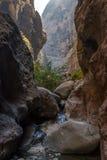 Passagem através das rochas no desfiladeiro Fotos de Stock Royalty Free