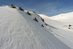 Passagem CO de Jones que snowmobiling Fotografia de Stock