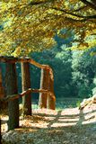 Passagem da cerca do outono fotos de stock royalty free