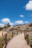 Passagem da ilha do granito Fotografia de Stock