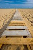 Passagem da madeira da praia Foto de Stock