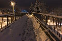 Passagem da noite do inverno Fotografia de Stock Royalty Free