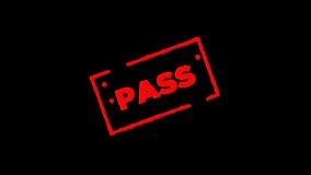 A passagem de borracha vermelha do selo da tinta assinada zumbe dentro e zumbe para fora com fundos da transparência do canal alf vídeos de arquivo