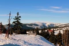 Passagem de Karkonoska no inverno Imagens de Stock Royalty Free