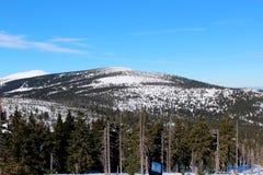 Passagem de Karkonoska no inverno Imagens de Stock