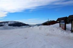 Passagem de Karkonoska no inverno Imagem de Stock