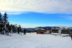 Passagem de Karkonoska no inverno Fotos de Stock Royalty Free