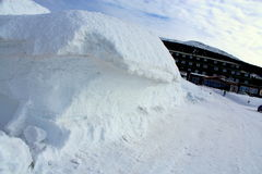 Passagem de Karkonoska no inverno Fotografia de Stock Royalty Free