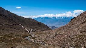 Passagem de Khardungla Foto de Stock Royalty Free