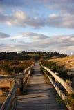 Passagem de madeira da praia Foto de Stock Royalty Free