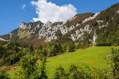 Passagem de montanha de Ljubelj, natureza, Eslovênia foto de stock