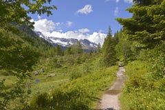 Passagem de montanha de Montets foto de stock