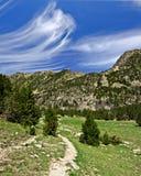 Passagem de passeio no vale de Madriu-Perafita-Claror em Andorra Fotografia de Stock Royalty Free