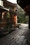 Passagem de pedra na cidade antiga chinesa Imagem de Stock Royalty Free
