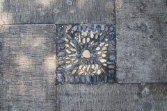 Passagem de pedra no parque Fotos de Stock Royalty Free