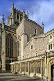 Passagem do claustro da catedral de Bristal foto de stock