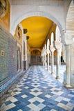 Passagem do La Casa de Pilatos, Sevilha, Espanha. Imagem de Stock