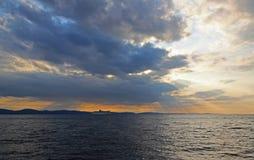 Passagem do oceano imagens de stock