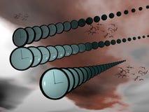 A passagem do tempo. ilustração do vetor