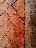 Passagem do tijolo alaranjado e vermelho sidewalk Textura Fundo fotografia de stock