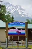 Passagem dos alces, Alaska Fotografia de Stock Royalty Free