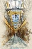 Passagem du Gran Cerf ilustração royalty free