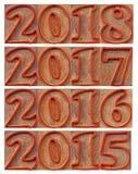 Passagem e anos entrantes Imagens de Stock Royalty Free
