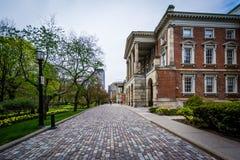 Passagem e jardins fora de Osgoode Salão, em Toronto, Ontário imagem de stock