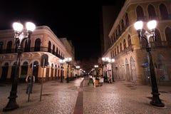 Passagem famosa do 15 de novembro na noite Fotografia de Stock Royalty Free