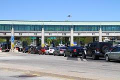 Passagem fronteiriça canadense imagem de stock royalty free