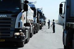 Passagem fronteiriça de Kerem Shalom fotos de stock
