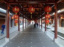 A passagem longa chinesa foto de stock