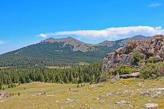 Passagem Mountain View do rio do pó em Wyoming, EUA foto de stock