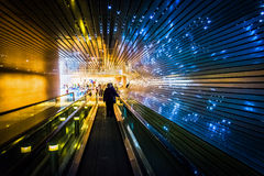 Passagem movente subterrânea no National Gallery da arte, em Wa fotografia de stock royalty free