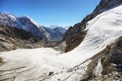 Passagem na região de Everest, Nepal de Cho La Fotografia de Stock Royalty Free
