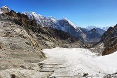 Passagem na região de Everest, Nepal de Cho La Fotos de Stock Royalty Free