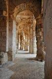 Passagem no Amphitheater romano antigo Fotografia de Stock Royalty Free