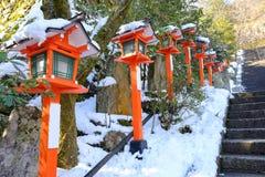 A passagem no inverno em Kuramadera Fotos de Stock
