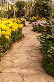 Passagem no jardim Fotografia de Stock
