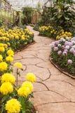 Passagem no jardim Fotografia de Stock Royalty Free